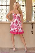 alison angel in her pink dress