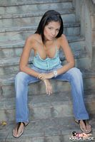 karla spice hot halter top and jeans