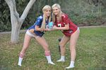 blonde lia 19 and alison angel football pics