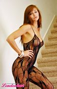 london hart sexy black lace body stocking