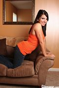 miss sandra mae in her tank top and tight jeans